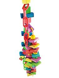 cheap -Bird Perches & Ladders Pet Friendly Focus Toy Felt / Fabric Toys Parrot Wood Plastic 40 cm