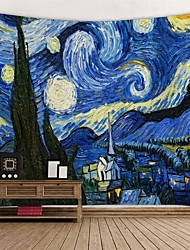cheap -oil painting style wall tapestry van gogh art decor blanket curtain hanging home bedroom living room decoration starry night