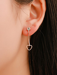 cheap -Women's Drop Earrings Hollow Out Heart Simple Korean Cute Gold Plated Earrings Jewelry Gold / Silver For Gift Club Bar 1 Pair