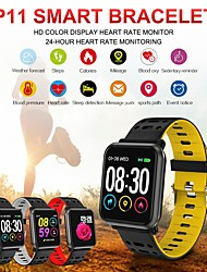 cheap -ST11 IP68 Waterproof Bluetooth Smart Watch Fitness Tracker Heart Rate Blood Oxygen Pressure Calorie Sleep Monitor for Android IOS