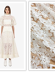 cheap -Lace Solid Pattern 125-130 cm width fabric for Bridal sold by the Yard
