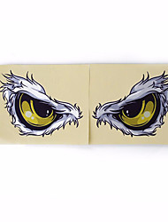 cheap -Reflective 3D Eyes Decals Car Stickers Rearview Mirror Car Head Styling Sticker