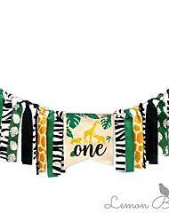 cheap -Holiday Decorations Holidays & Greeting Pull Flag Party Green 5pcs