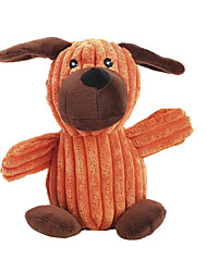 cheap -Cute Puppy Shaped Squeaking Chewing Plush Toy for Pet Dogs(Random Colour)