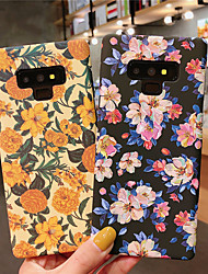 cheap -Case For Samsung Galaxy Note 8 / Note 9 Pattern / Frosted Back Cover Flower Hard PC for Note 8 / Note 9