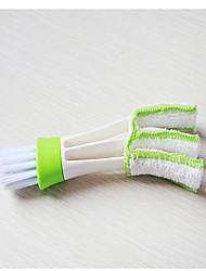 Недорогие -двухголовый очиститель для автомобиля кондиционер на выходе щетка для очистки приборной панели домашняя пыль жалюзи щетки для клавиатуры