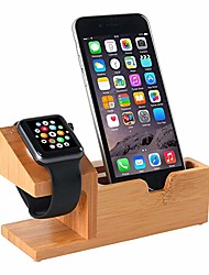cheap -Compatible with Apple Watch Stand USB Charging Stand Phone Stand with 3 USB Charging Port Bamboo Wood Charging Dock Station for 38mm and 42mm Apple Watch