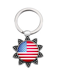 cheap -Keychain Flag American flag European Ring Jewelry Silver For Gift Festival