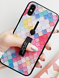 cheap -Case For Apple iPhone XS / iPhone XR / iPhone XS Max Shockproof / Dustproof / Water Resistant Back Cover Geometric Pattern Hard Tempered Glass