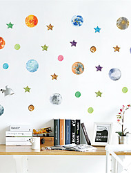 cheap -Stars Wall Stickers Plane Wall Stickers Decorative Wall Stickers, PVC Home Decoration Wall Decal Wall Decoration 1pc / Removable 90*30cm