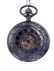 Недорогие -Муж. Карманные часы С автоподзаводом Черный С гравировкой Новый дизайн Повседневные часы Аналоговый Мода Скелет - Черный