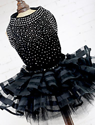 cheap -Tuxedo Dog Clothes Black Costume Polyester Acrylic Fibers Dot Princess Dresses&Skirts Wedding XS S M L XL