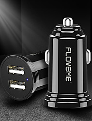 cheap -Floveme 5V 2.4A Dual Car Charger 12V-24V Input USB Car Charger for Universal Car/Trunk