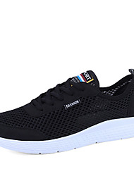 cheap -Men's Comfort Shoes Knit / Mesh Spring & Summer Sporty Athletic Shoes Running Shoes / Fitness & Cross Training Shoes Breathable Black / Blue / Gray / Shock Absorbing / Wear Proof