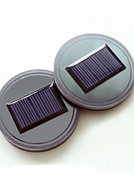 cheap -2 Pack Solar LED Light Cup Holder Bottom Pad Mat Interior Decoration For All Cars