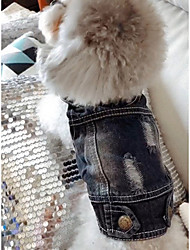 cheap -Dog Denim Jacket / Jeans Jacket Winter Dog Clothes Blue Costume Denim Jeans Cowboy Fashion XS S M L XL XXL
