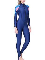 cheap -Dive&Sail Women's Rash Guard Dive Skin Suit Diving Suit SPF50 UV Sun Protection Quick Dry Full Body Front Zip - Diving Snorkeling