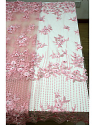 cheap -African lace Solid Pattern 125 cm width fabric for Bridal sold by the 5Yard
