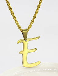 cheap -Men's Silver Pendant Necklace Charm Necklace X Alphabet Shape Basic Stainless Steel Gold Silver 50 cm Necklace Jewelry 1pc For Daily