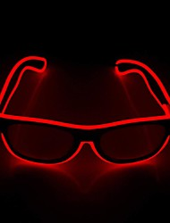 cheap -Luminous LED Glasses Novel Luminous Glasses Adjustable EL Line Neon Glasses Holiday Decoration
