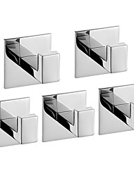 cheap -Robe Hook New Design / Self-adhesive / Creative Contemporary / Modern Metal 5pcs - Bathroom Wall Mounted