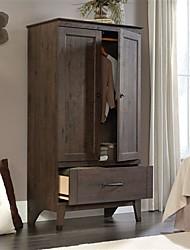 Недорогие -шкаф для хранения вещей шкаф для одежды с отделкой темно-коричневого дуба