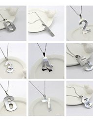 cheap -Men's Women's Silver Pendant Necklace Charm Necklace Classic Number Vintage Stainless Steel Silver 50 cm Necklace Jewelry 1pc For Daily