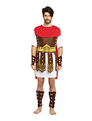 cheap -Roman Costumes Cosplay Costume Masquerade Adults' Men's Cosplay Halloween Christmas Halloween Carnival Festival / Holiday Fabric Red Carnival Costumes Patchwork