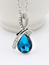 cheap -Women's AAA Cubic Zirconia Pendant Necklace Drop Classic Fashion Chrome Imitation Diamond Blue 44 cm Necklace Jewelry 1pc For Daily