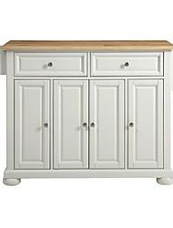Недорогие -белый кухонный шкаф для хранения вещей с деревянным верхом