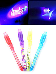 cheap -Luminous Light Invisible Ink Pen 2 in 1 UV Check Money Kids Drawing Secret Learning Educational Magic Pens