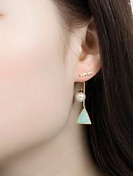 cheap -Women's Earrings Earrings Jewelry Blue / Pink For Graduation Street Festival 1 Pair