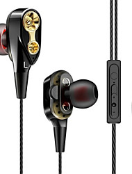 cheap -LITBest Double Unit Drive Earphone with Volume Control Subwoofer Gaming Headsets Sport Earbuds Headphones