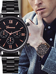 cheap -Men's Steel Band Watches Quartz Formal Style Stylish Black / Silver / Gold 30 m Chronograph Creative New Design Analog Casual Fashion - Black Silver Rose Gold Two Years Battery Life