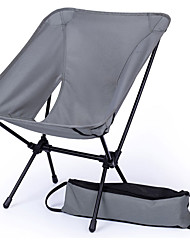 cheap -BEAR SYMBOL Fishing Chairs Camping Chair with Side Pocket Portable Rain Waterproof Anti-Slip Ultra Light (UL) Oxford Cloth 7075 Aluminium for 1 person Fishing Hiking Camping Autumn / Fall Spring Gray