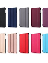 cheap -Case For Samsung Galaxy Samsung Tab S5e T720 10.5 Shockproof / with Stand / Flip Full Body Cases Solid Colored Hard PU Leather for Tab S4 10.5 (2018) / Tab A2 10.5(2018) T595 T590 / Samsung Tab S5e
