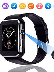 abordables -Écran tactile x6 montre intelligente avec caméra montre intelligente hommes soutiennent sim tf bluetooth ascenseur smartwatch étanche pour iphone android