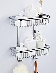 cheap -Bathroom Shelf Multilayer / New Design Modern Brass 1pc - Bathroom / Hotel bath Double Wall Mounted