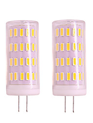 cheap -2pcs 4W G4 Gu4 LED Corn Light Dimmable 12V 24V 400LM 63 LED SMD 3020 White Warm White For Pendant Lights Porch Lights Chandelier Light