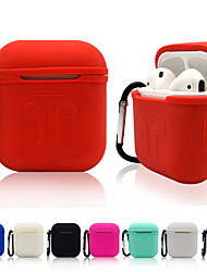 cheap -AirPods Case Solid Color Protective Cover Silica gel PC Compatible with Apple AirPods 2 & 1(AirPods Charging Case not included)