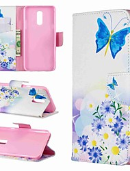 cheap -Case For LG LG V30 / LG V20 / LG Stylo 4 Wallet / Shockproof / with Stand Full Body Cases Butterfly / Flower Hard PU Leather / LG G6