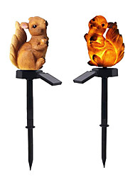 cheap -1pc Outdoor LED Solar Lights Resin Squirrel Lawn Light Waterproof Resin Solar Garden Lawn Light Floor Lamp Garden Landscape Decor