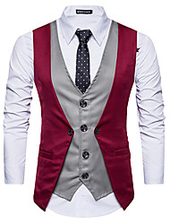 cheap -Poly&Cotton Blend Wedding / Daily Wear Vests / Work Patchwork
