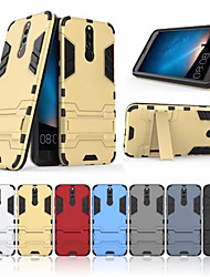 cheap -Case For Huawei Mate 10 lite Shockproof / Dustproof / Water Resistant Back Cover Solid Colored Hard TPU / PC