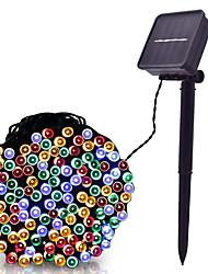 cheap -LOENDE 8m String Lights 60 LEDs Dip Led Warm White RGB White Solar Powered
