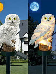 cheap -1pc LED Garden Lights Solar Owl Shape Night Lights Solar-Powered Lawn Lamp Home Garden Creative Solar Lamps