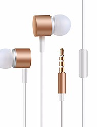 cheap -Caldecott KDK-206 Wired In-ear Earphone Wired Stereo with Microphone InLine Control Mobile Phone