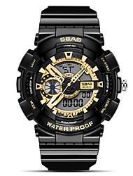 Недорогие -Муж. Спортивные часы Цифровой Современный Спортивные Черный / Белый 30 m Защита от влаги Фосфоресцирующий Cool Аналого-цифровые На открытом воздухе Cool - Черный Золотой + черный Белый / Золотистый