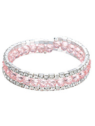 abordables -Bracelets Tennis Rivière de Diamants Bracelet en cristal Homme Femme Classique Cheval Imaginer Elégant Artistique Bracelet Bijoux Noir Blanche Violet pour Quotidien Festival