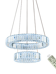 cheap -1-Light LED Contemporary Pendant Lights Lamps Chandelier Indoor Crystal Ceiling Chandeliers Luxry Lamp Fixtures For Restaurants Dining Room 110-120V / 220-240V